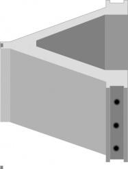 Блок угловой силоса