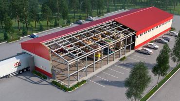 Конструкции для строительства напольных складов